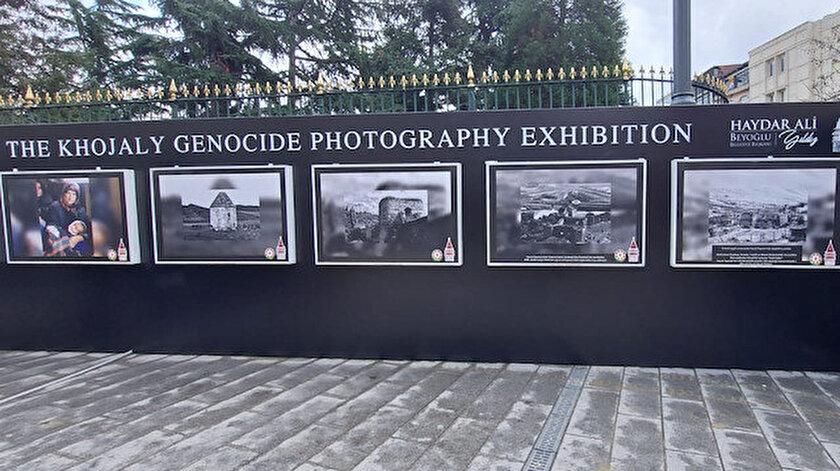 29. Yılında Hocalı Soykırımı fotoğraf sergisi Beyoğlunda açıldı