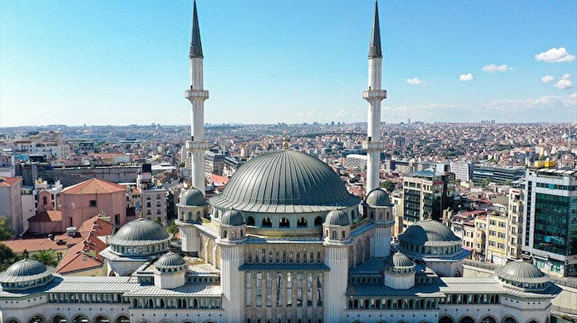 Taksim Meydanında inşaatı süren caminin yüzde 99u tamamlandı