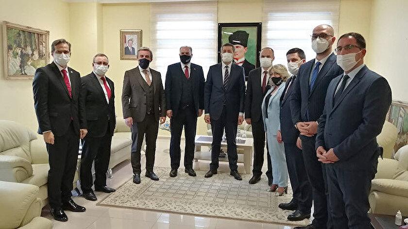 Milli Eğitim Bakanı Ziya Selçuk Kosovalı heyet ile Trakya Üniversitesi'nde bir araya geldi