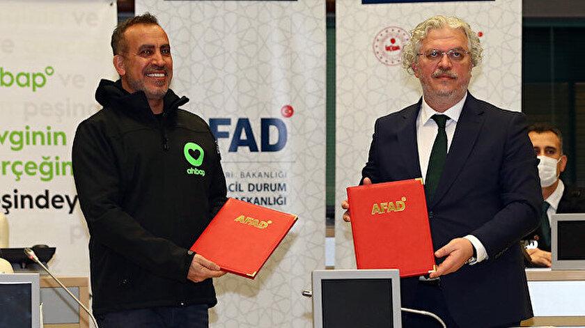 AFAD ile Ahbap Derneği arasında iş birliği protokolü imzalandı