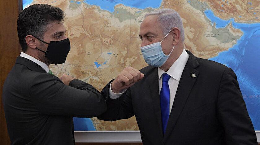 Netanyahu ile BAEnin Tel Aviv Büyükelçisinden samimi görüntüler