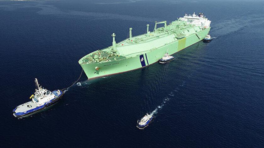 Cezayirden yola çıkan LNG gemisi Türkiyeye ulaştı