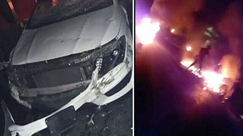 Lübnan'da bir sürücü yolu kapatan göstericileri ezdi: 7 yaralı