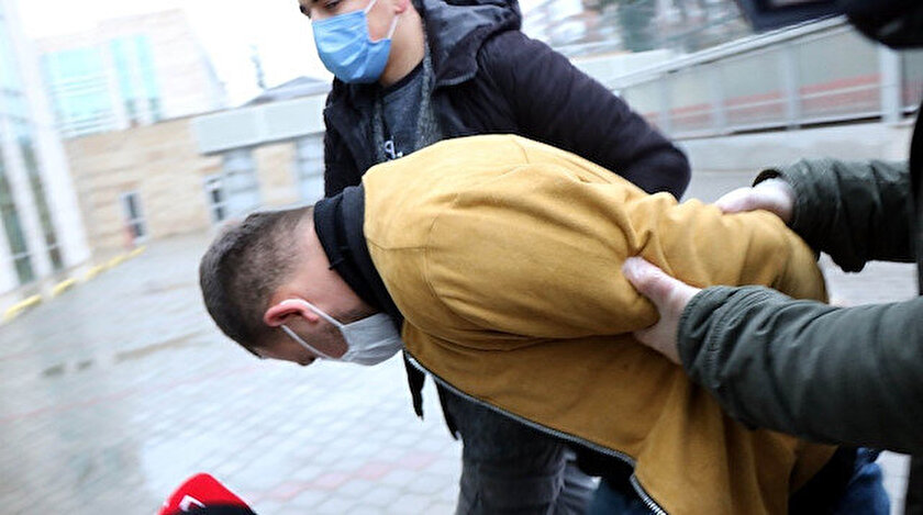 Samsunda eski eşini öldüresiye döven cani tutuklandı
