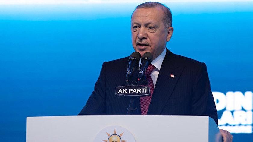 Cumhurbaşkanı Erdoğan: Sadece kadın kollarımız onların tüm üyesini geçiyor