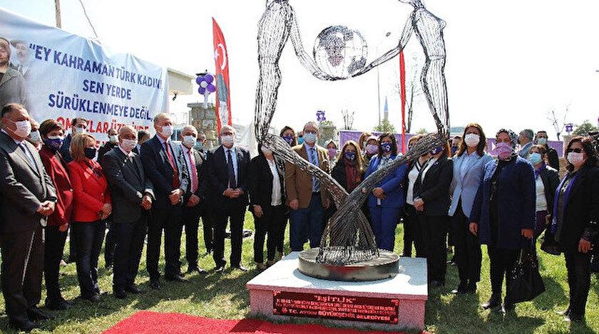 Aydın'da eşitlik heykeli açıldı: Yarışmayı kazanana 110 bin TL'lik çek