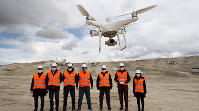 Maden sahalarına drone ile denetim