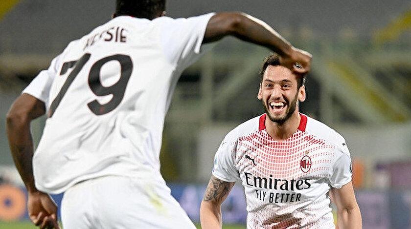 Fiorentina Milan maç özeti ve Hakan Çalhanoğlunun golünü izle