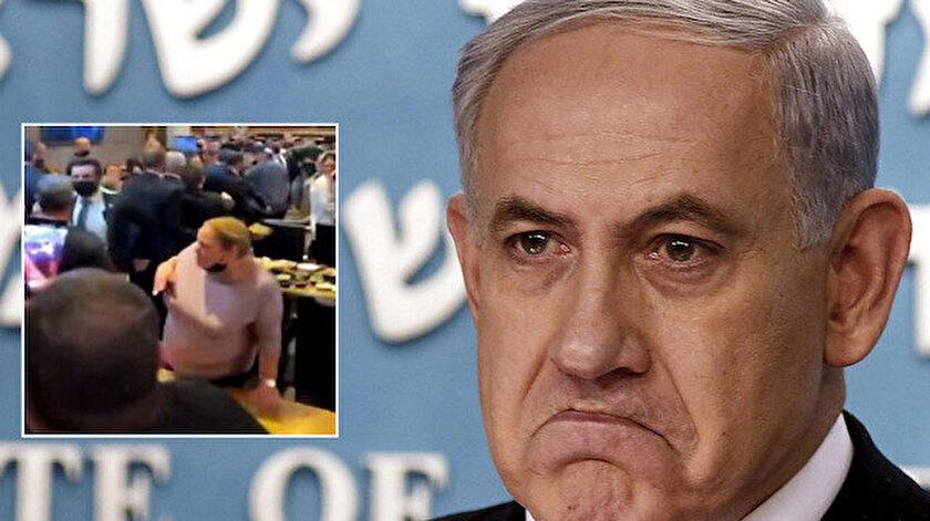 İsrail Başbakanı Netanyahunun bulunduğu restoranın yakınlarına roket düştü