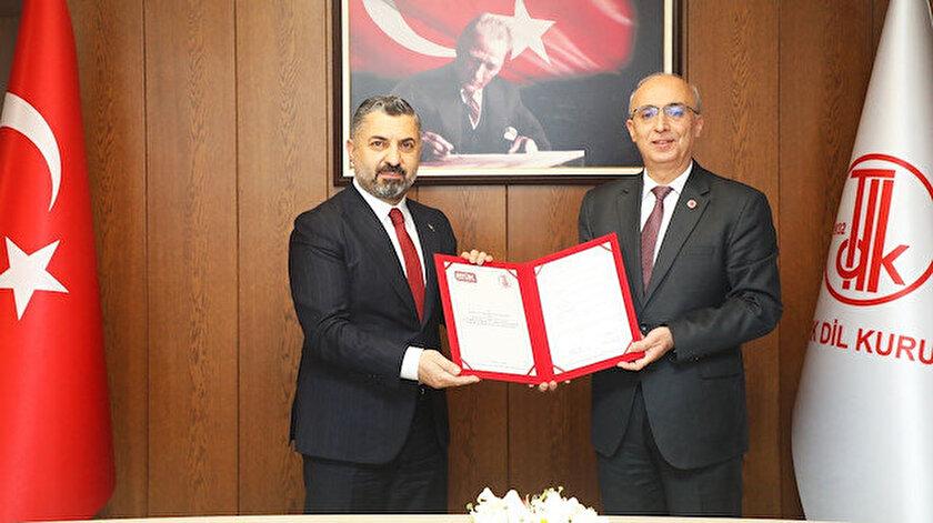 RTÜK ile TDK arasında Dünya Dili Türkçe protokolü