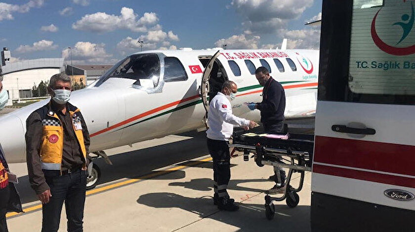 Batmanda ambulans uçak 22 aylık bebek için havalandı