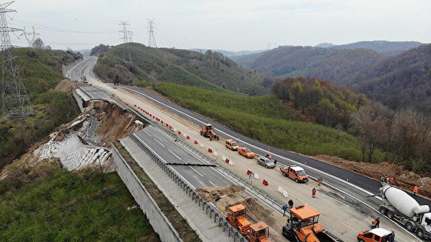 Alternatif yol tamam: Çöken Batı Karadeniz bağlantı yolu çift yönlü ulaşıma açıldı