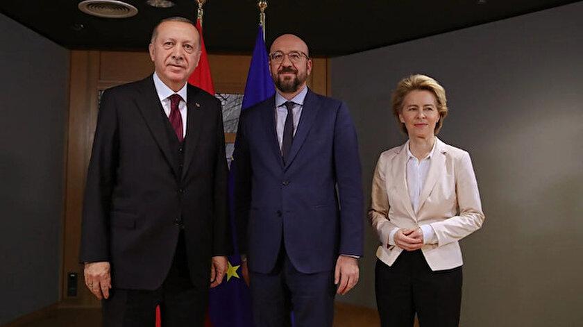 Cumhurbaşkanı Erdoğan, AB heyetini kabul etti