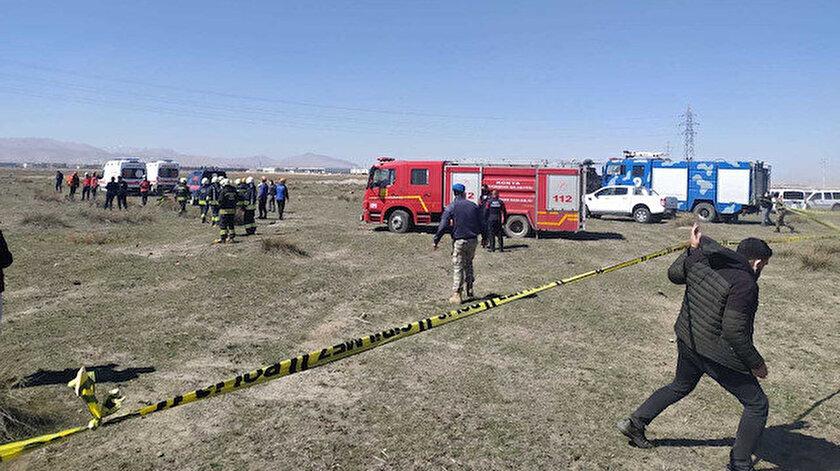 Son dakika: Konyada gösteri uçağı düştü