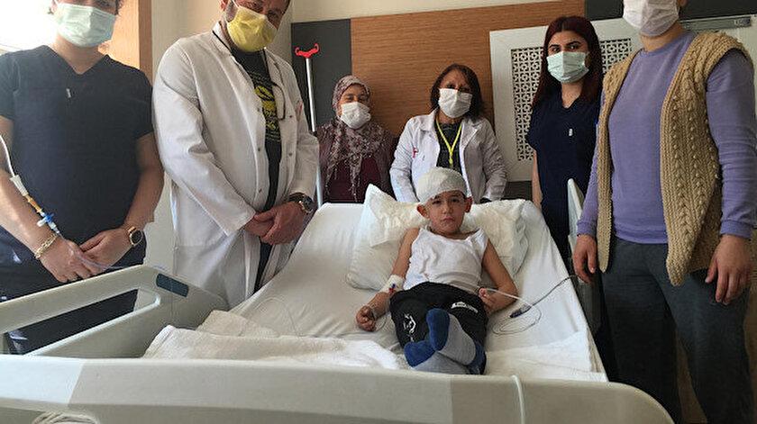Manisa haber: Eymenin başına isabet eden yorgun mermi ameliyatla çıkarıldı
