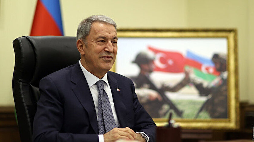 Bakan Akar, Azerbaycan Savunma Bakanı Hasanov ile görüştü: Geçmişte olduğu gibi bugün de kader birliği içindeyiz