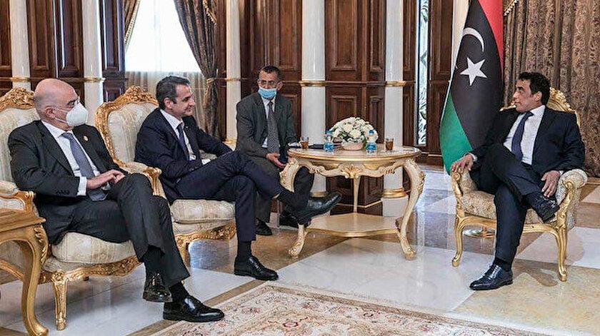 Yunan yönetimi büyükelçiyken ülkeden kovduğu Menfinin ayağına gitti: Türkiye-Libya anlaşmasını iptal edin