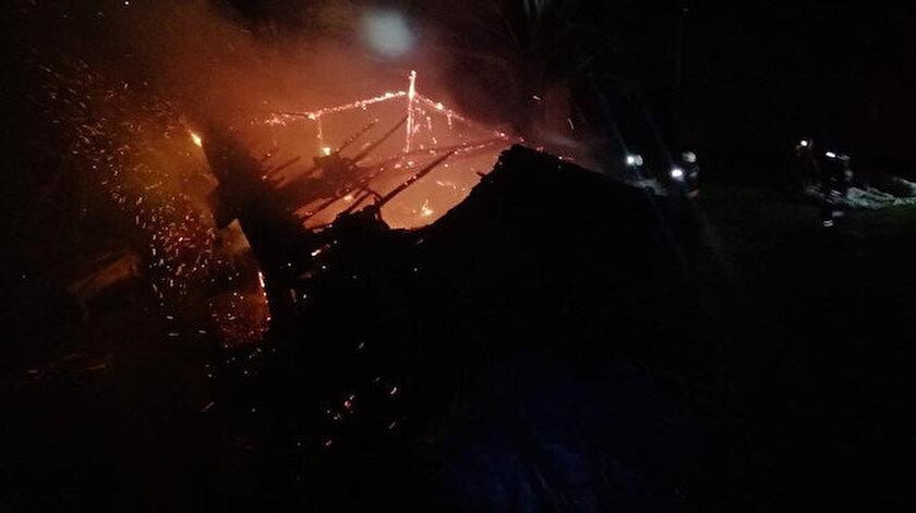 Trabzonda acı olay: Yangında babası evde sandı, kalp krizinden hayatını kaybetti