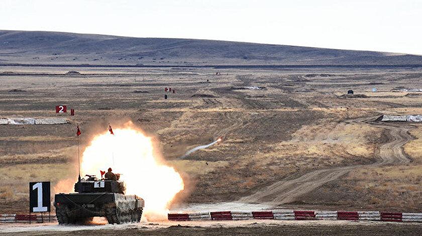 Hedefler tam isabet: Ankarada tank topu atışları yapıldı
