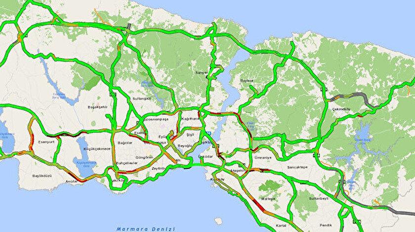 İstanbulda Ramazan ayının ilk gününde trafikteki sakinlik dikkat çekti