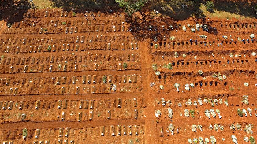 Koronavirüste korkunç bilanço: Brezilyada 24 saatte 3 bin 459 kişi hayatını kaybetti