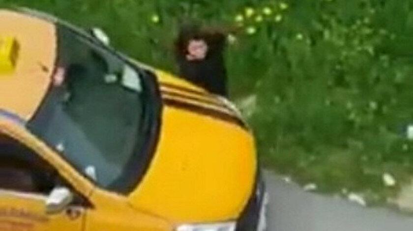 Taciz ettiği kadının üzerine arabayı sürdü: Güpegündüz sarı dehşet