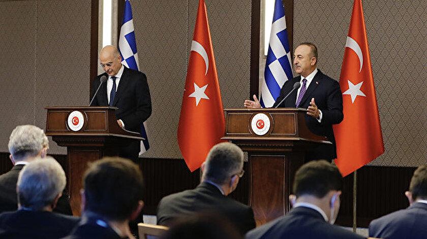 Basın toplantısında yaşanan gerginliğin ardından Yunanistandan Türkiye ile olumlu gündem açıklaması