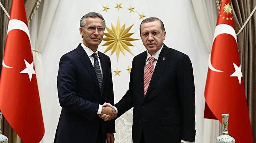 Cumhurbaşkanı Erdoğan NATO Genel Sekreteri Stoltenberg ile görüştü