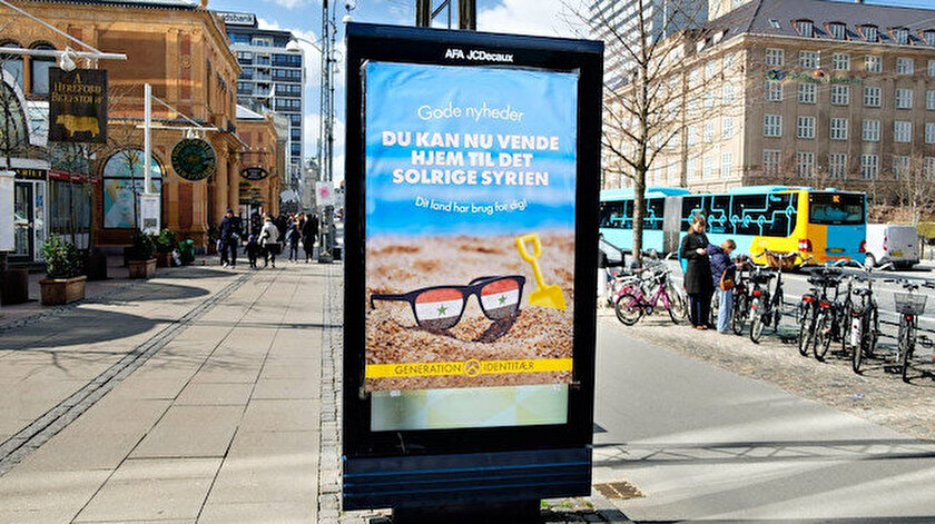 Danimarkada mültecileri ülkeden yollamak için reklam: Güneşli Suriyenin size ihtiyacı var