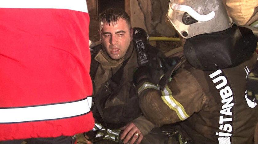 Mobilya fabrikasında yangın: Bir itfaiye eri fenalaştı