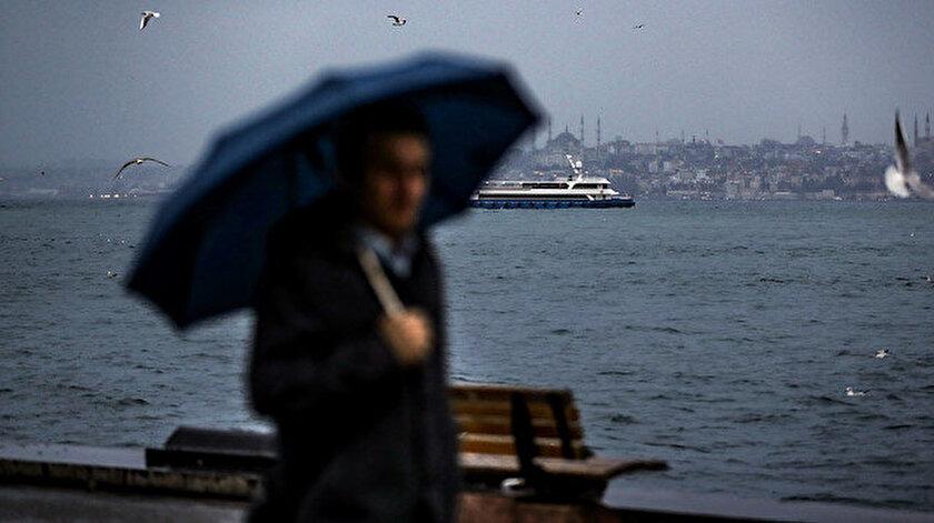 İstanbul ve 45 ile yağış uyarısı! İstanbul, Ankara, İzmir hava durumu