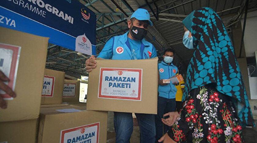 Türkiye Diyanet Vafkından Malezyada ramazan gıda kolisi yardımı