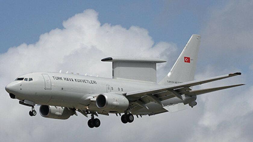 TSKnın E-7T HİK uçağı ilk yurtdışı görevini gerçekleştirdi: NATO ülkesi hava sahasında uçuş yaptı