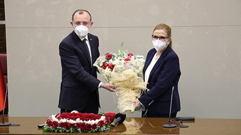 Ticaret Bakanlığında devir teslim töreni: Mehmet Muş görevi devraldı
