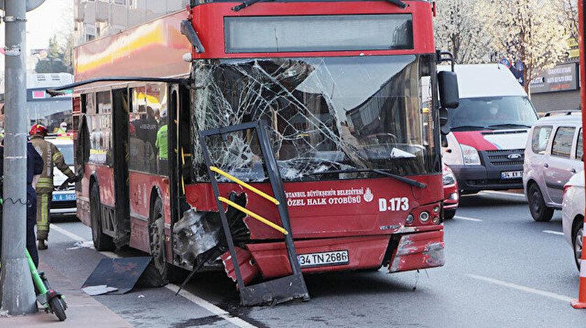 İstanbul Beşiktaşta çift katlı İETT otobüsü kaza yaptı: Bir ölü bir yaralı var
