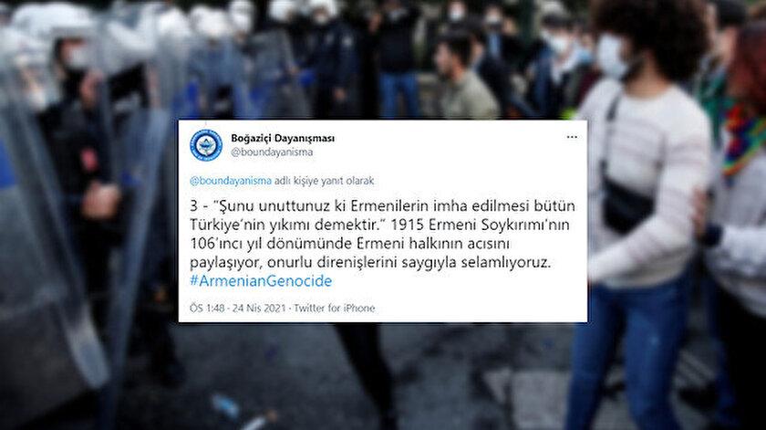 Boğaziçi provokatörlerinden sözde Ermeni soykırımına destek - Yeni Şafak