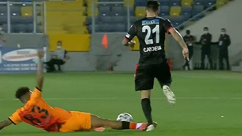 Galatasaraylı Gedson Fernandesin pozisyonu tartışma çıkardı