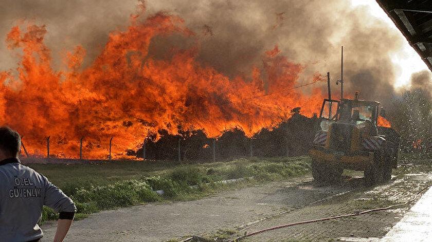 Afyonkarahisarda biyoenerji santralinde yangın çıktı