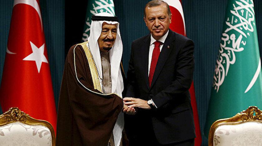 Cumhurbaşkanı Erdoğan Suudi Arabistan Kralı Selman ile görüştü