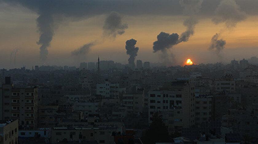 İsrail savaş uçakları Gazzedeki güvenlik merkezlerini yoğun bombardımana tuttu