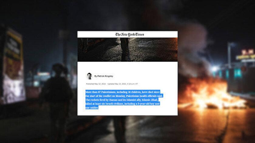 İki yüzlü New York Times: Filistinliler için öldü İsrailliler için öldürüldü