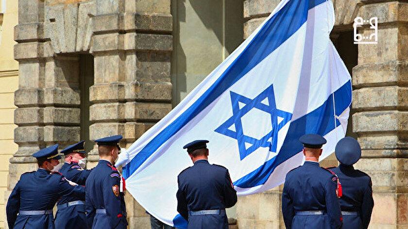 Dün Avusturya bugün Çekya: Terör devleti İsrailin Filistin zulmüne bayraklı destek!