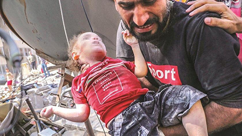 Gazzede 61'i çocuk 212 şehit