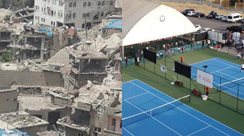 Bakan Mehmet Muharrem Kasapoğlu paylaştı: Şırnakın dünü ve bugünü: Artık tenis raketlerinin sesi yankılanıyor
