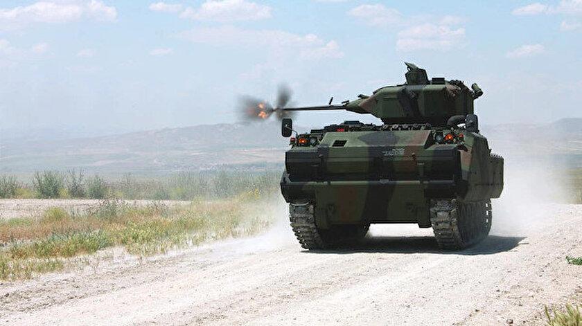 Zırhlı Muharebe Aracı modernizasyon projesinde atış testleri başarılı oldu
