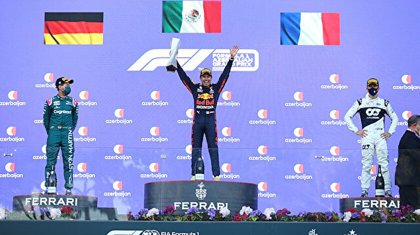 Formula 1 Azerbaycan Grand Prixsini Red Bull pilotu Sergio Perez kazandı