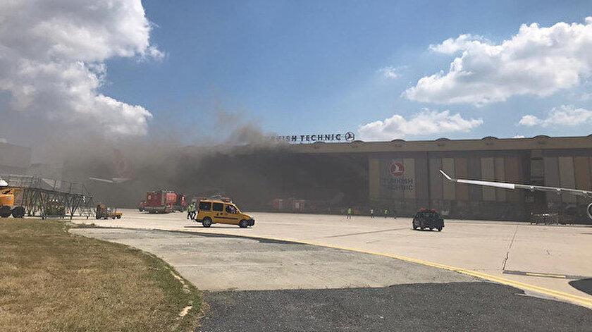 Atatürk Havalimanında uçak bakım hangarında oksijen tüpü patladı