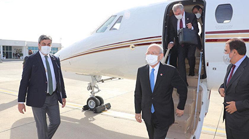 CHP Kılıçdaroğlu önderliğinde KKTC ziyaretinde: Türkiyenin Doğu Akdenizde bulunmasını istemeyen vekil Çevviköz de eşlik etti