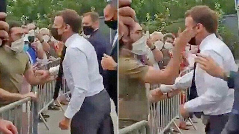 Macron'a tokat atan kişi hakim karşısına çıktı: Cezası belli oldu