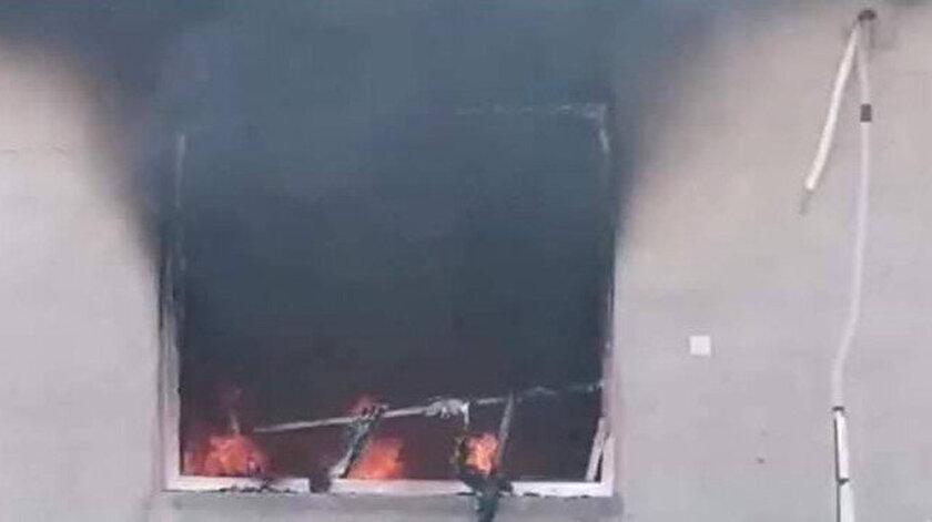 İsteği reddedilen PKKlı teröristler Irakta bir vatandaşın evini yaktı